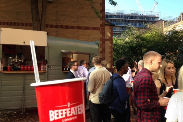 Mobile Horse Trailer Bar - Beefeater Corporate Event 1