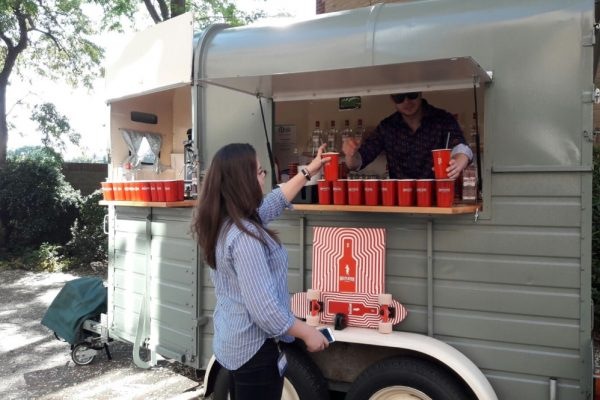 Mobile Horse Trailer Bar - Beefeater Corporate Event 3