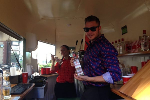 Mobile Horse Trailer Bar - Beefeater Corporate Event 5