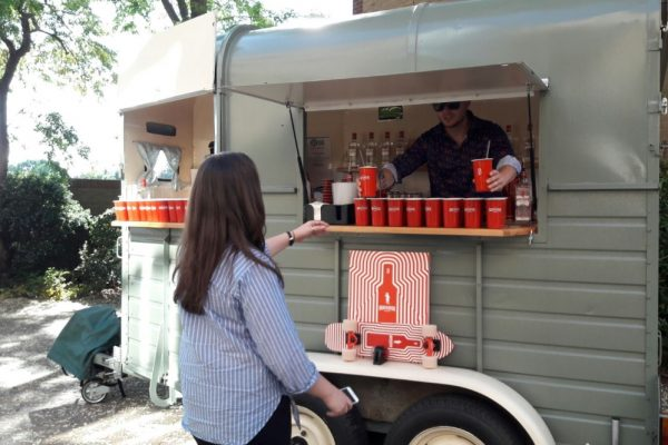Mobile Horse Trailer Bar - Beefeater Corporate Event 8